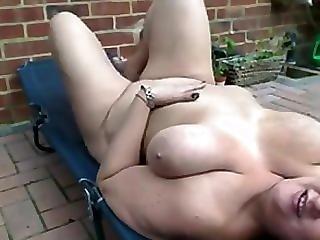 Saggy Mature Milf Garden Strip