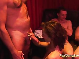 Sexy Teens In Real Gangbang Orgy