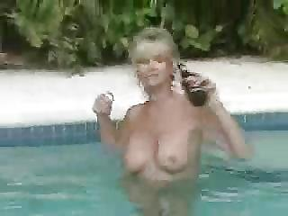 Hot Wife Sucks Cock In The Pool