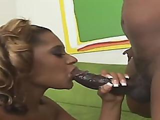 Gorgeous Ebony Babe Fucked By Massive Black Dick