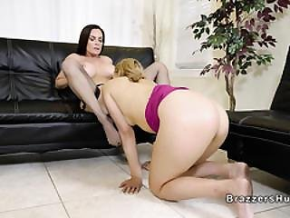 Huge Boobs Mom Licks And Toys Blonde Teen