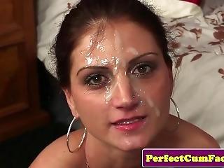 Skinny Cocksucking Beauty Facialized Twice