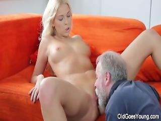 Sweet Blonde Comes To Her Old Teacher