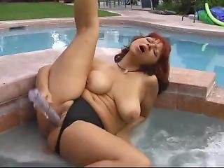 Debby Paige Solo In Hot Tub