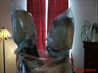Two Blonde Women Wrapped Together Lezdom
