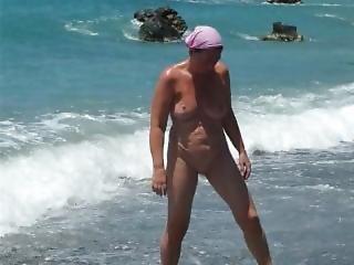 My Wife Marion On The Beach