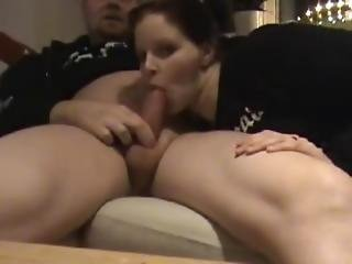 Wife Sucking Cock On The Couch