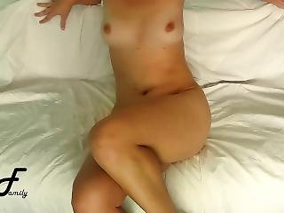 Hands Free Orgasm, Crossed Legs Masturbation Sitting On Couch ~dirtyfamily~