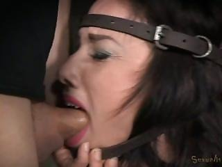 Jennifer White Shackled On Sybian And Bound In The Blowjob Machine, Brutal