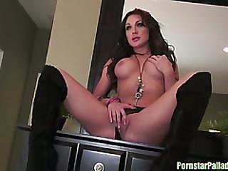 Amy Brooke Posing At The Dresser