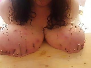 Slave Z Has Nails Hammers In Her Big Tits