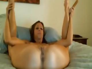 amatør, babe, rompe, brunette, dildo, hjemme, hjemmelaget, onanering, milf, orgasme, fitte, sexy, leker