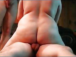 Bbw Getting A Dp From Two Guys