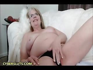 Bbw, Blondynka, Okulary, Babunia, Masturbacja