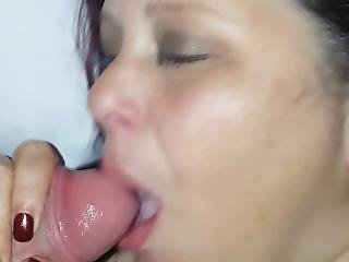 Sucking My Mans Cock While He Fucks My Face