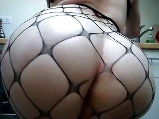 My Holes Stretched/big Phat White Booty Fishnet.