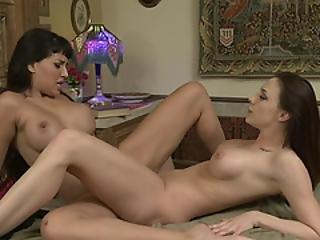 Busty Latina Enjoys Licking Her Milf Brunette Gf