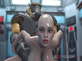 Alien Monster Fucks A Young Girl In The Mars Base Camp