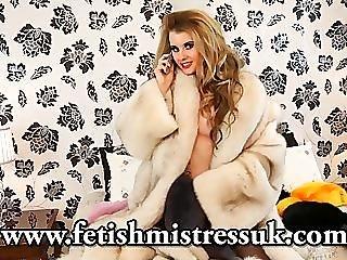Brook Logan phone sex fur fetish fur coat