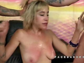 Sasha Sweet Stripped For Mouth Fucking