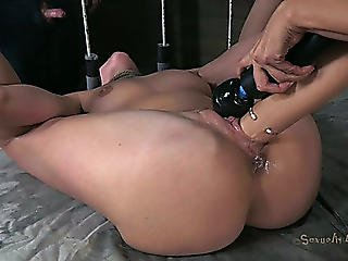 Spoiled Blondie Experiences A Tough Fisting