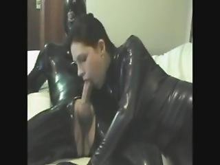 Blowjob In Latex Catsuit