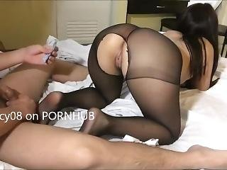 Horny Pinay Petite Teen Student Fucking In Black Stockings