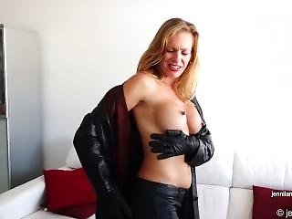 Jennilane Knows About Your Leather Fetish!