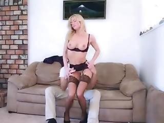 Boss Lady In Lingerie, Stockings, Heels - Lap Dance, Grinding, Head, Sex