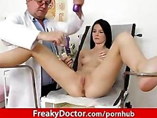 Skinny Teen Lucianna Karel Gyno Clinic Exam