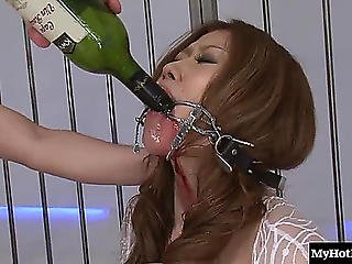 Sadomasochism Discharge Of Lustful Oriental Dame Getting Drunk Heavily