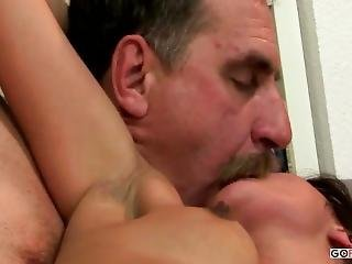 Young Girl And Old Man Fucking On The Couch