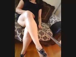 kociak, brunetka, klasycznie, fetysz, międzyrasowy, nogi, solo