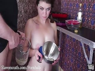 Hot Slave Served Man Ass With A Cum Omlette And Piss Drink For Breakfast