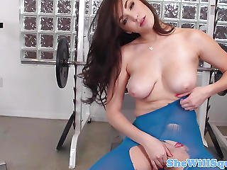 Busty Squirting Beauty Facilized Closeup