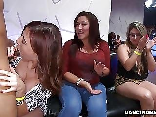 Cock Hungry Ladies Enjoy Blowjob Party