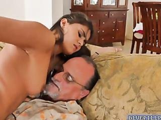 Seductive Jealena Marie Shared By 3 Old Men