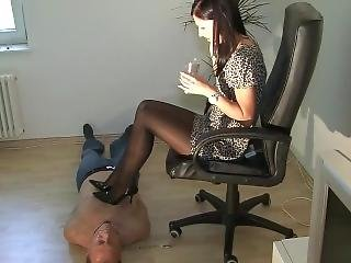 Goddess Chanel Cigarette And Spitting Domination With High Heels
