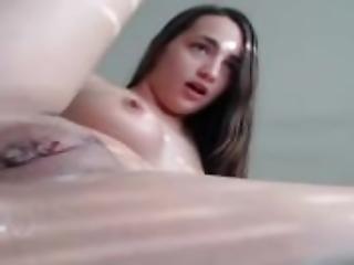 amatör, asiat, brunett, onani, naturlig, naturliga tuttar, solo, leksaker, trimmad, vaginalt, webcam
