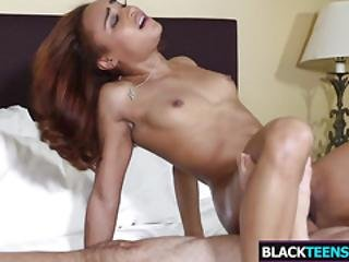 Big Ass Dark Teen Blue Love Gets Drilled