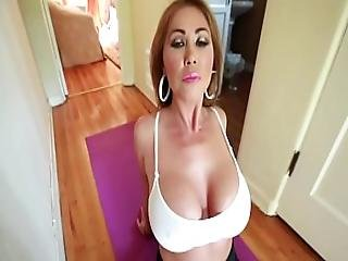 Big Tit Mom Does Yoga And Gets Tit Fucked