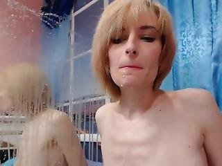 Skinny Russian With Huge Naturals Tits And Abs Lactating