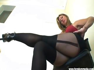 Femdom Office Secretary Blondy Slut Dirty Talk