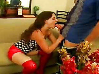 Hairless Lad Kisses Her Snatch