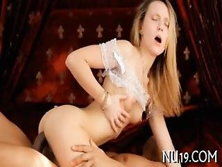 Pretty Blonde Teen Beauty Rides Up Dick