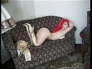 Pink Hair Golden Thigh High Boots