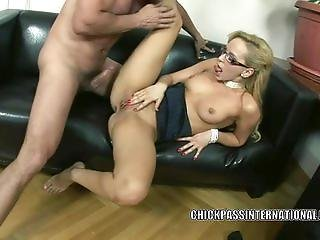 Aleska Diamond lifts her skirt to get fucked