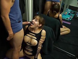 Slutty Doll Takes A Huge Facial