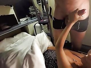 Horny Girl Seduces Passenger On Train
