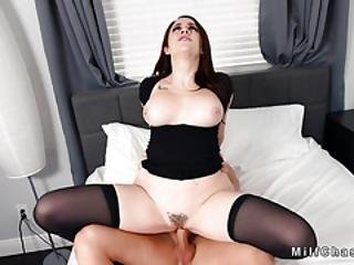 Big Boobs Milf In Lingerie Blows Cock